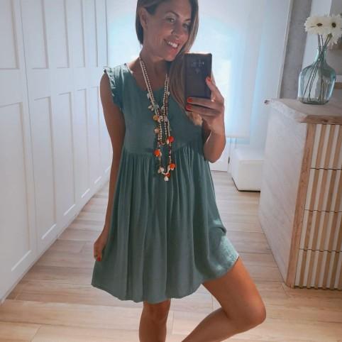 Vestido Estampado IRINA Verde Jade