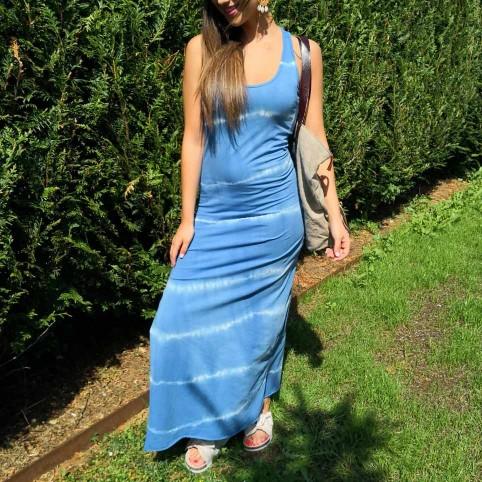 Vestido Tie Dye Azul Jean
