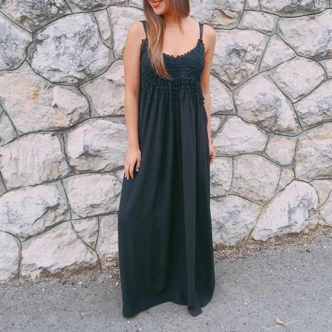Vestido Crochet ZÍNGARA Negro