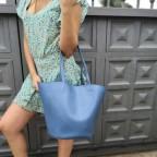 Bolso Shopper CARTAGENA Azul Cian