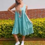 Vestido Ondas ENEIDA Aguamarina
