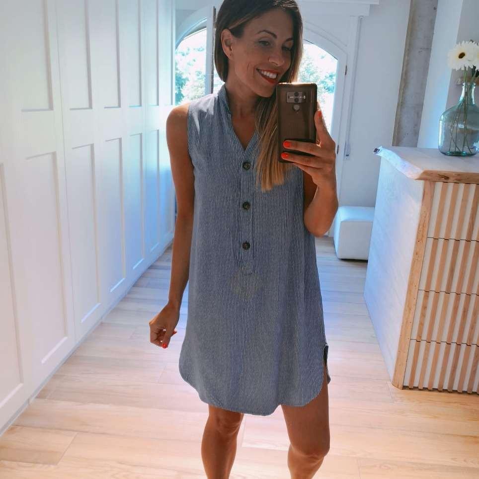 Vestido Camisero LUCIE Azul