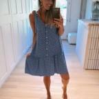 Vestido Estampado ANOUK Azul Jean