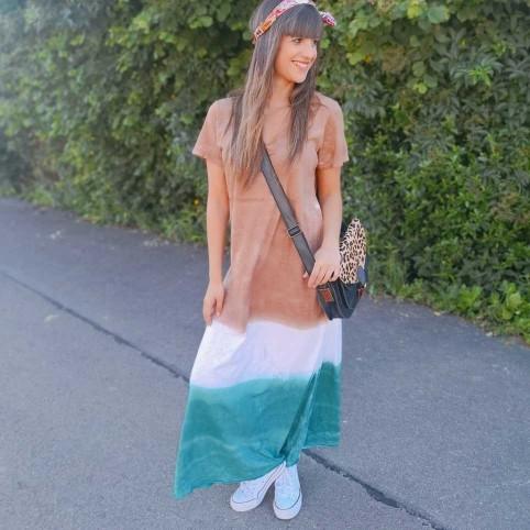Vestido Franjas NUBIA Camel