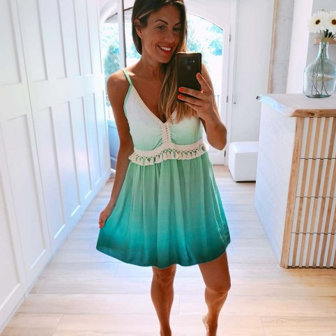 Vestido Degradado XANA Verde