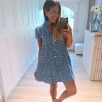 Vestido Estampado LAETITIA Azul