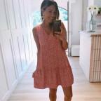 Vestido Estampado SAMIRA Coral