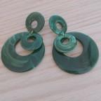 Pendientes Circular Resina Verde