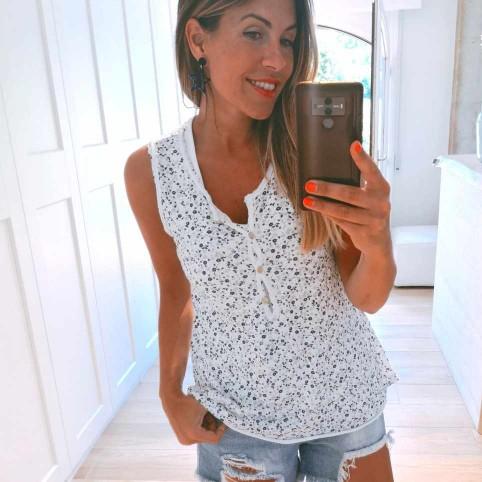 Camiseta Doble ANJANA Blanco