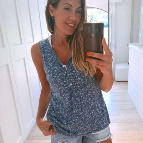 Camiseta Doble ANJANA Azul