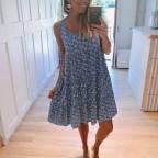 Vestido Estampado ADAGIO Azul Jean