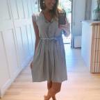 Vestido Rayas ALINE Khaki