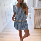 Vestido Étnico YOELI Azul Jean