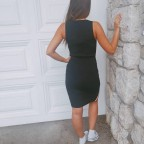 Vestido Punto Franja Negro