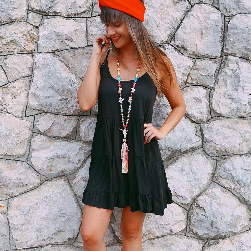 Vestido Ondas JANET Negro