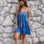 Vestido Ondas JANET Azul Jean