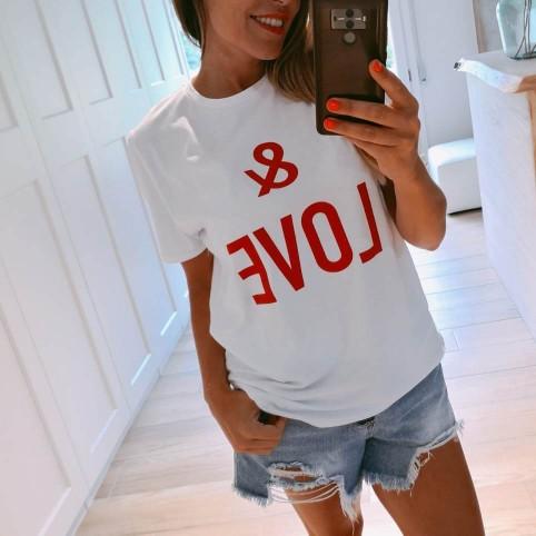 Camiseta Mensaje & LOVE Blanco