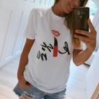 Camiseta Mensaje KISS ME Blanco