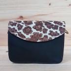 Bolso Piel Liso Negro/Leopardo 326