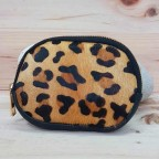 Monedero Piel Ovalado Leopardo