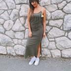 Vestido Flecos WINONA Khaki