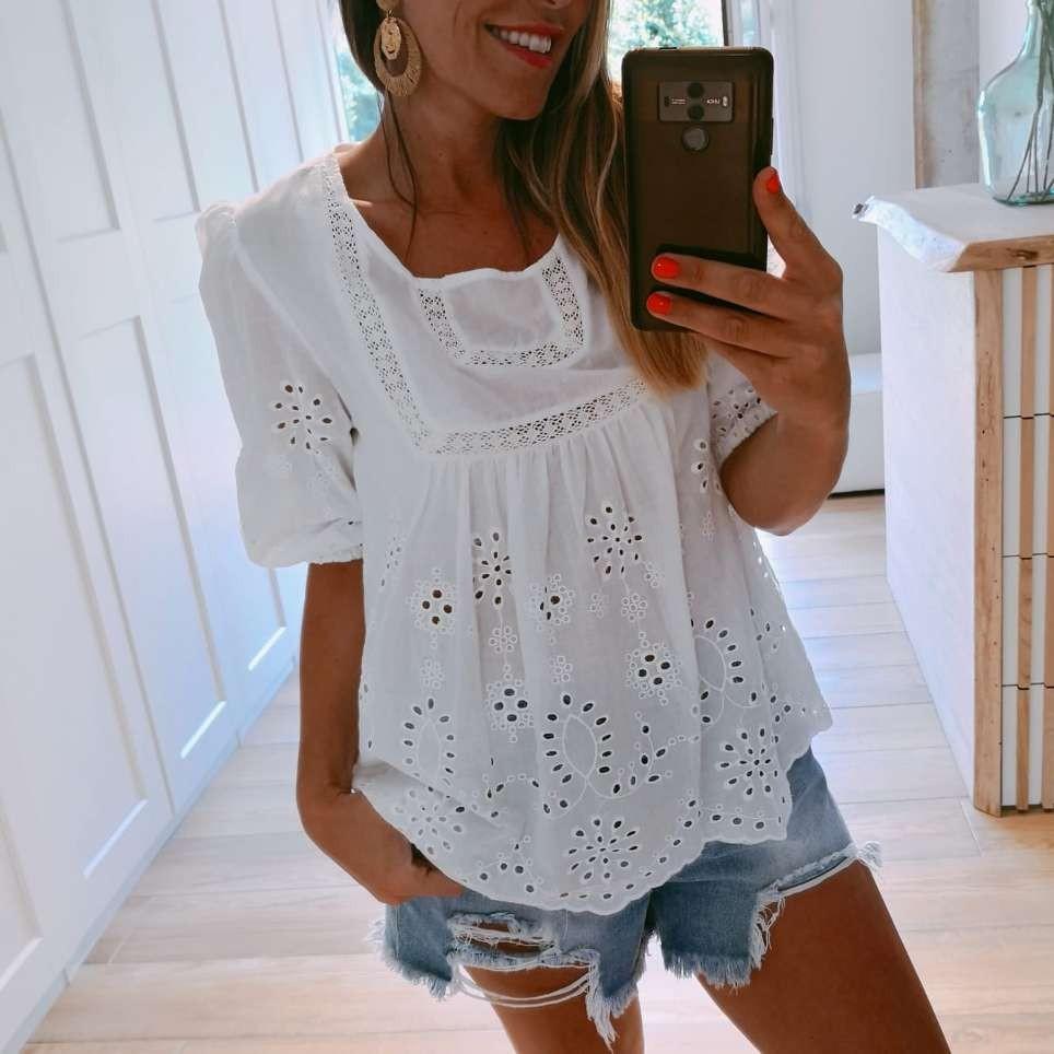 Blusa Calados REGINA Blanco
