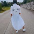 Camisa Asimétrica ROCK & ROLL Blanco