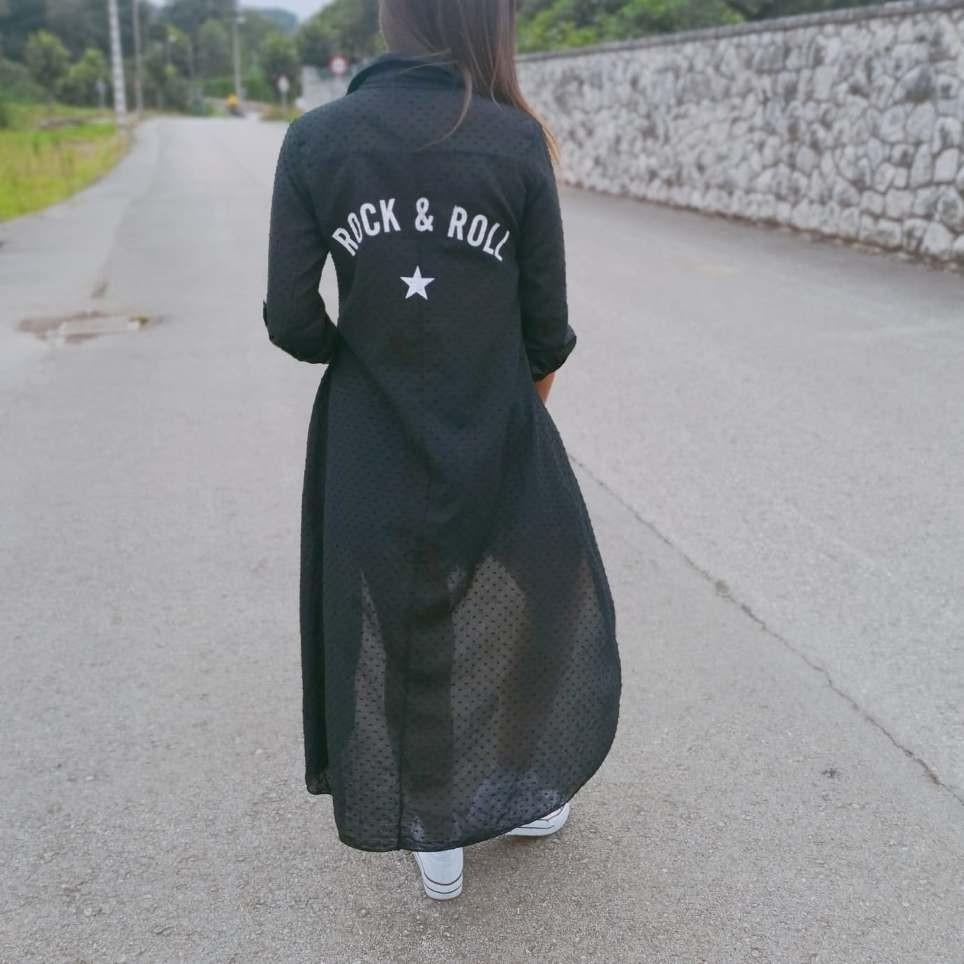 Camisa Asimétrica ROCK & ROLL Negro
