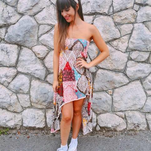 Vestido Asimétrico Patchwork ANKARA