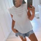 Blusa Volantes CARISA Blanco