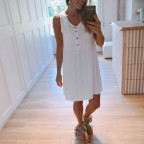 Vestido Liso MAITENA Blanco