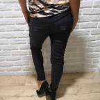Pantalón Baggy Encerado Negro