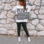 Jersey Oversize ENJOY Crudo/Negro
