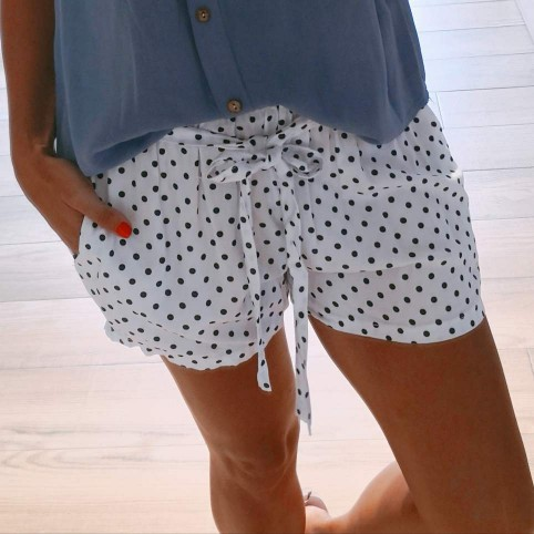 Short Lunares GRIZEL Blanco