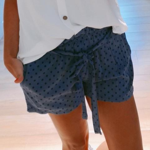 Short Lunares GRIZEL Azul Jean