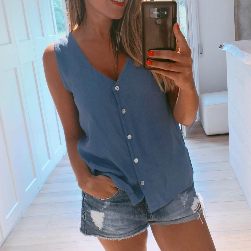 Cuerpo Liso NICOLE Azul Jean