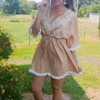 Vestido Floral SOPHIE Mostaza