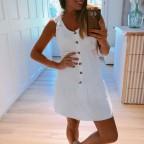 Vestido Volante PAULINA Blanco