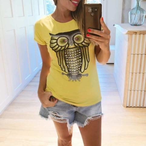 Camiseta Búho Glitter Lima