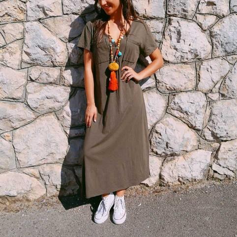 Vestido Largo CIRA Khaki