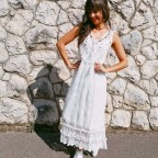 Vestido Tull ROMANÍ Blanco