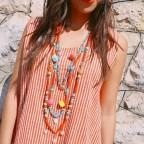 Collar Largo SIRENA Naranja