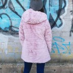 Abrigo Reversible Efecto Pelo ADIVA Rosa
