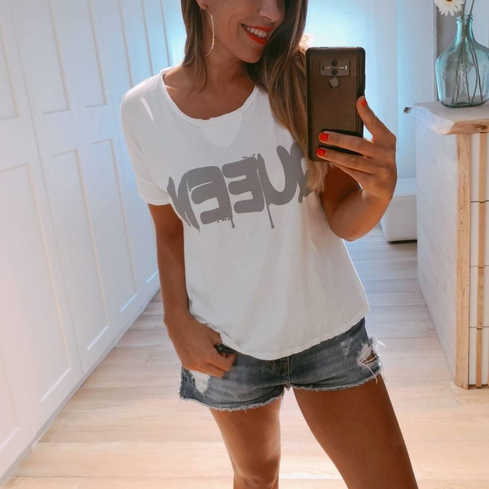 Camiseta Algodón QUEEN Blanco
