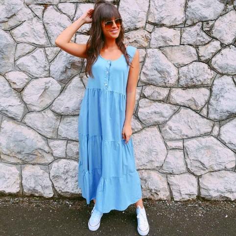 Vestido Ondas MADE WITH LOVE Azul