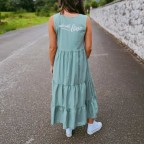 Vestido Ondas MADE WITH LOVE Verde Jade