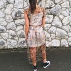 Vestido Tull Camuflaje Khaki
