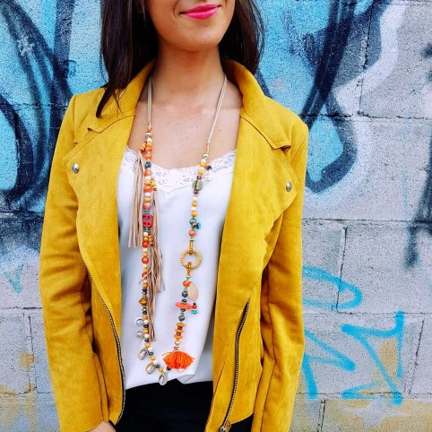 Collar Flecos LATIKA Naranja