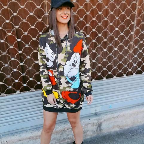 Vestido Sudadera MICKEY Camuflaje