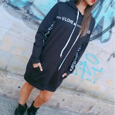 Vestido Sport V/LOVE Negro